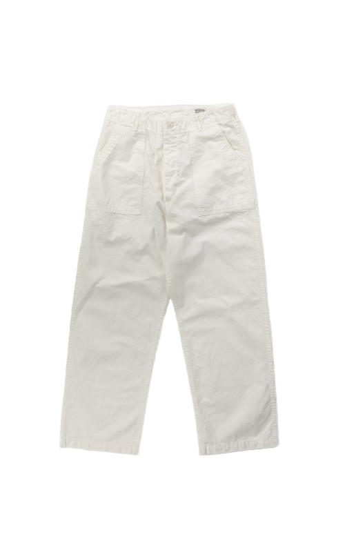 OrSlow Wide Fatigue Pants White