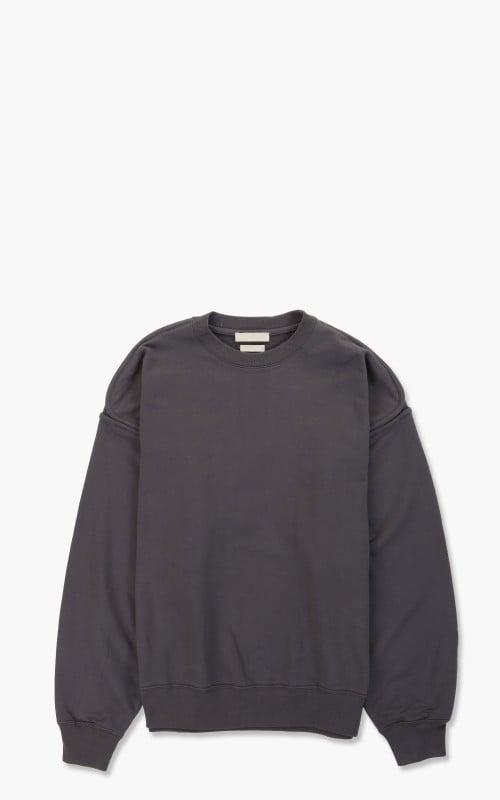 Yoke Oversized Piping Sweat Shirt Dusty Navy