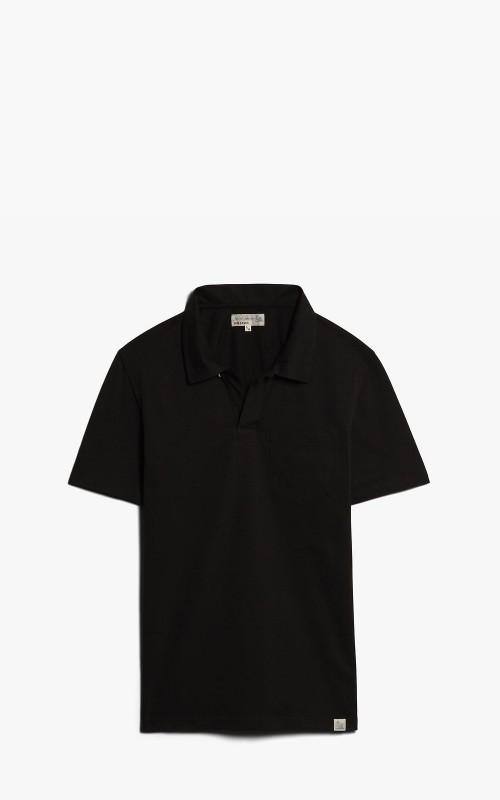 Merz b. Schwanen PLP01 Polo Pocket Shirt Black