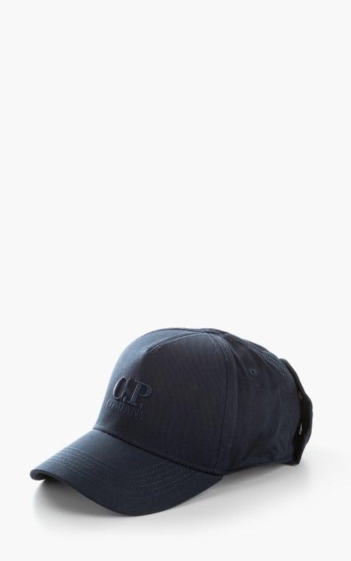 C.P. Company Goggle Back Logo Cap Total Eclipse