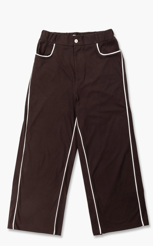 Sunnei Piping Jersey Pants Brown