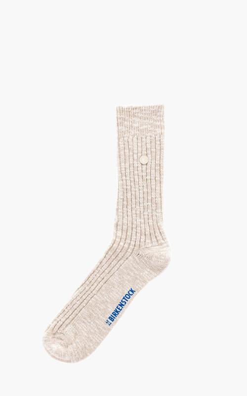 Birkenstock Cotton Slub Socks Beige/White