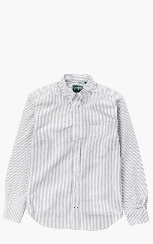 Gitman Vintage GV02 Revised Body Sport Shirt Light Grey Striped