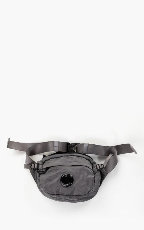 C.P. Company Garment Dyed Nylon Sateen Lens Crossbody Bag Gargoyle