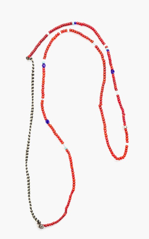 North Works D-506 Beads Necklace Red