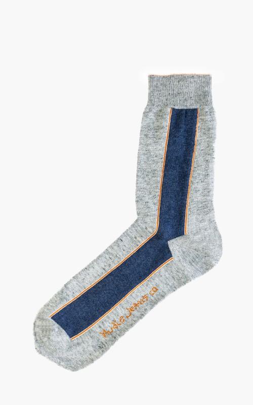 Nudie Jeans Olsson Selvage Socks Light Grey
