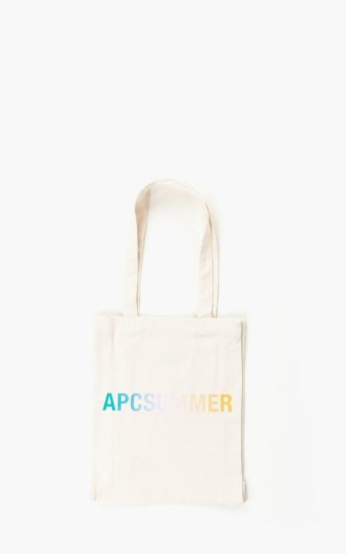 A.P.C. Tote Lou Denim Natural 'APC Summer' Bag White