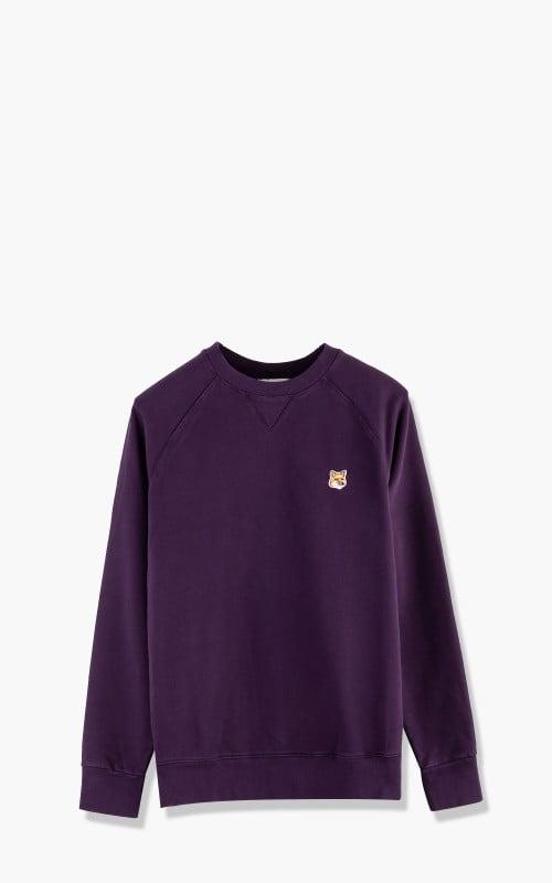 Maison Kitsuné Fox Head Patch Classic Sweatshirt Plum Red