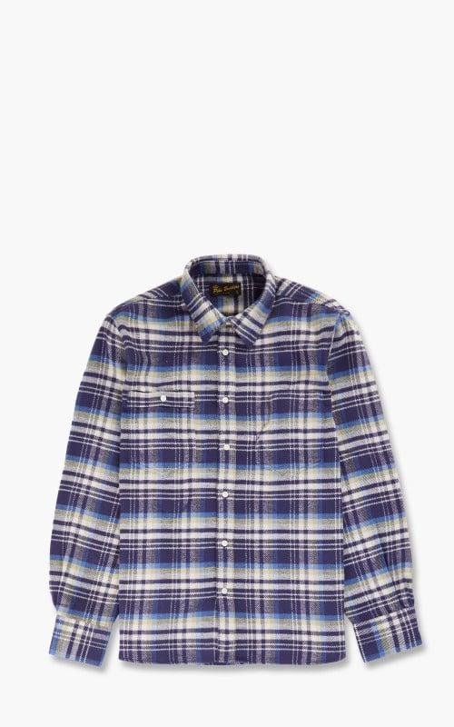 Pike Brothers 1937 Roamer Shirt Flannel Dark Blue