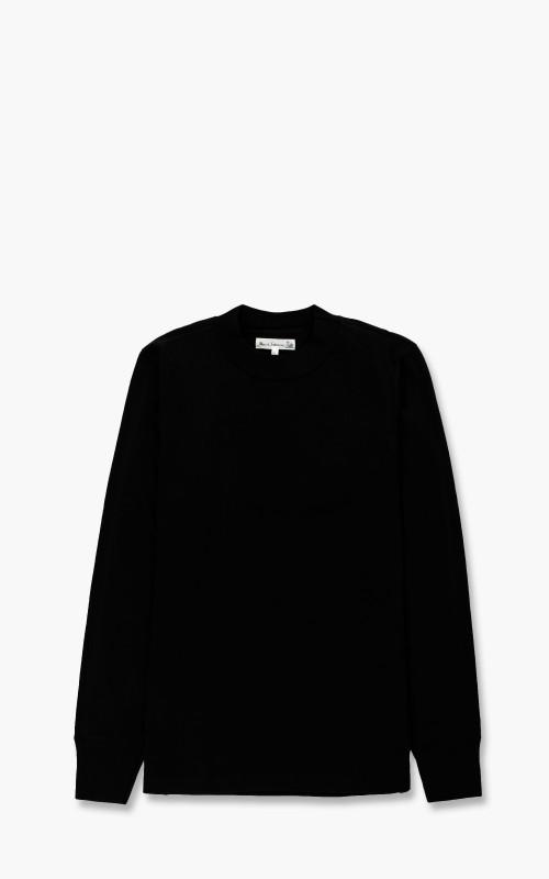 Merz b. Schwanen 216 Mock Neck Shirt 1/1 Deep Black