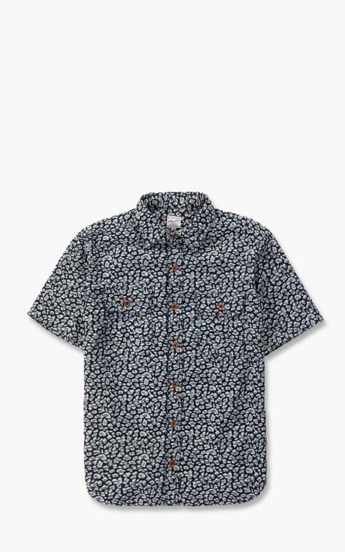 Momotaro Jeans 06-099 Leopard Jacquard Shirt Indigo