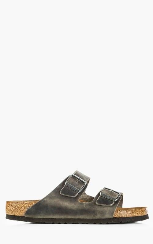 Birkenstock Arizona Soft Footbed Oiled Nubuck Leather Iron
