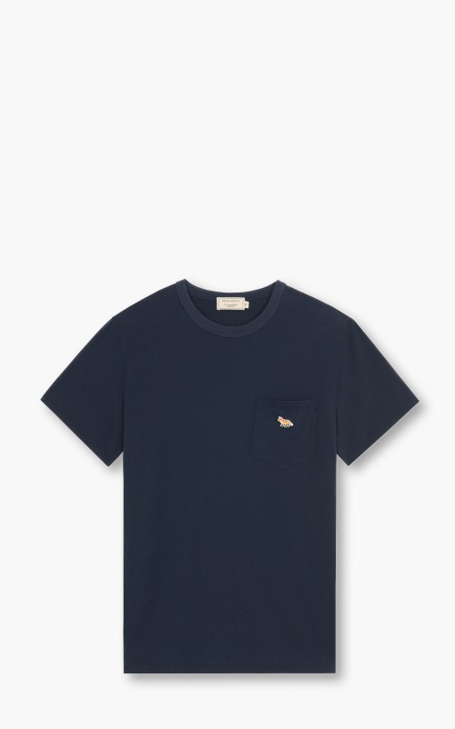 Maison Kitsuné Profile Fox Patch Pocket T-Shirt Navy