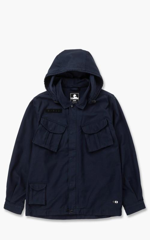 Edwin Strategy Hooded Jacket Back Sateen Navy Blazer