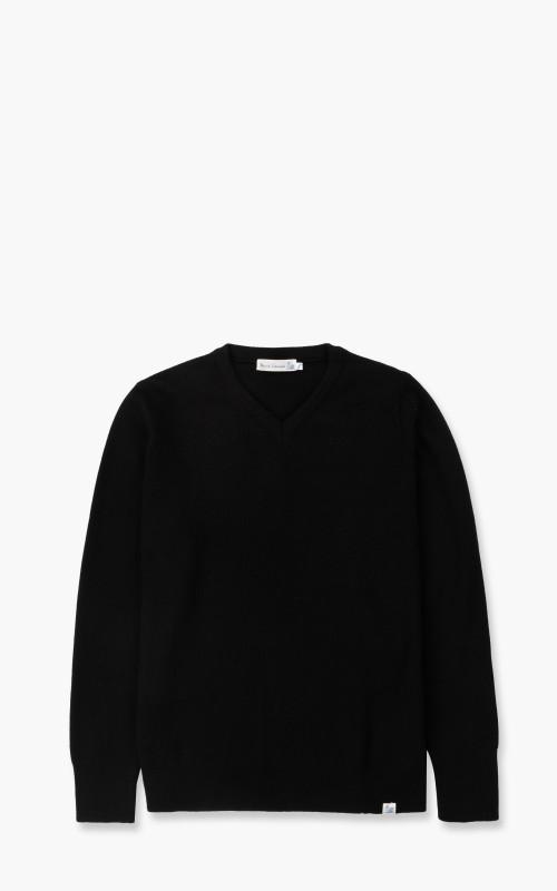 Merz b. Schwanen MWCV Sweatshirt V-Neck Wool Black