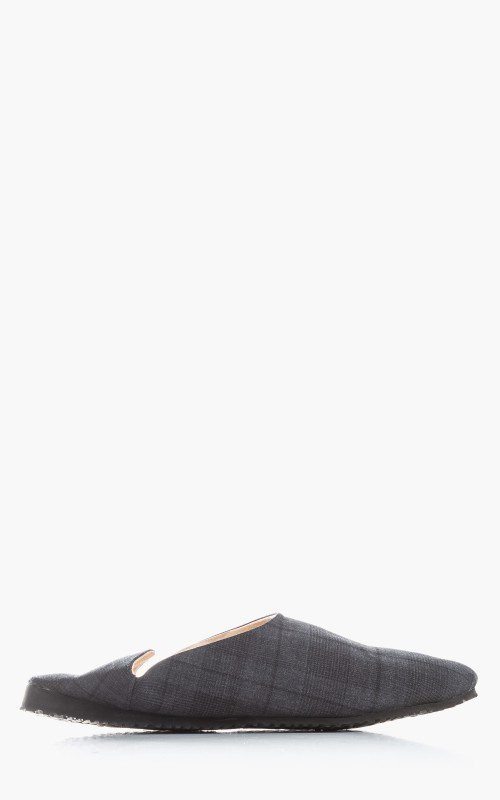 Markaware Super 120's Wool Tropical Convenience Shoe Charcoal Check