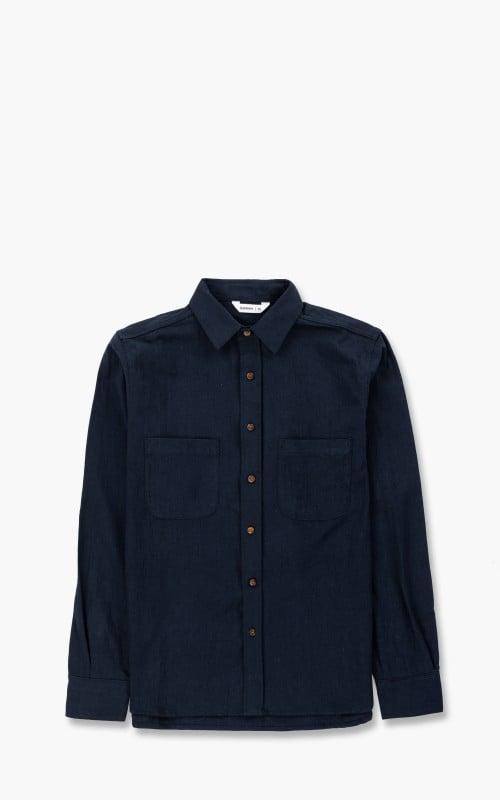 3sixteen BD Shirt Navy Linen