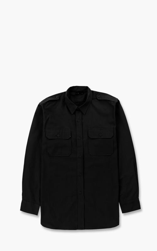 Military Surplus Field Shirt Ripstop Black