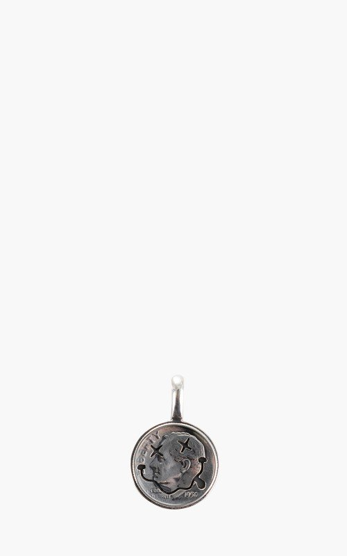 North Works N-603B Smile Coin Pendant 925 Silver