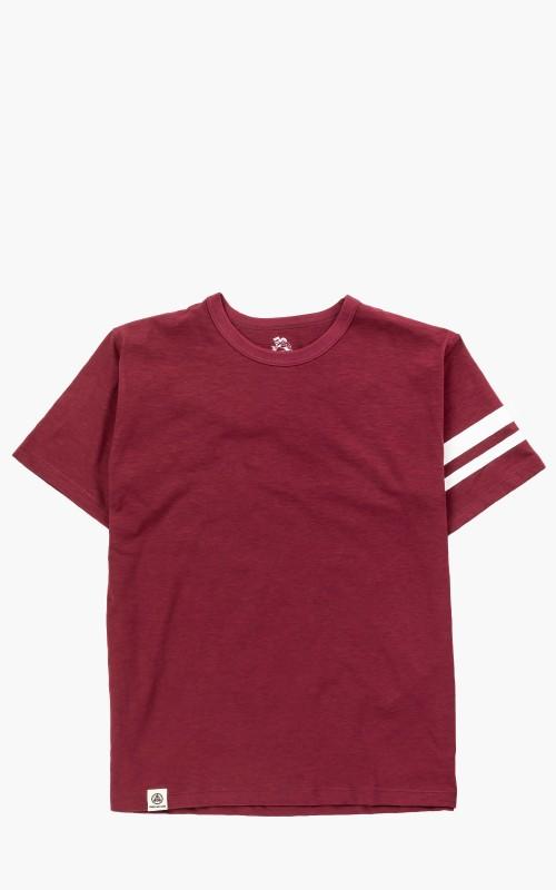 Momotaro Jeans GTB Zimbabwe Cotton T-Shirt Burgundy