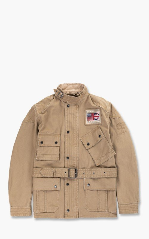 Barbour International SMQ Washed Southwest Casual Jacket Stone