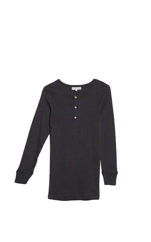 Merz b. Schwanen 506 Button Facing Shirt Charcoal