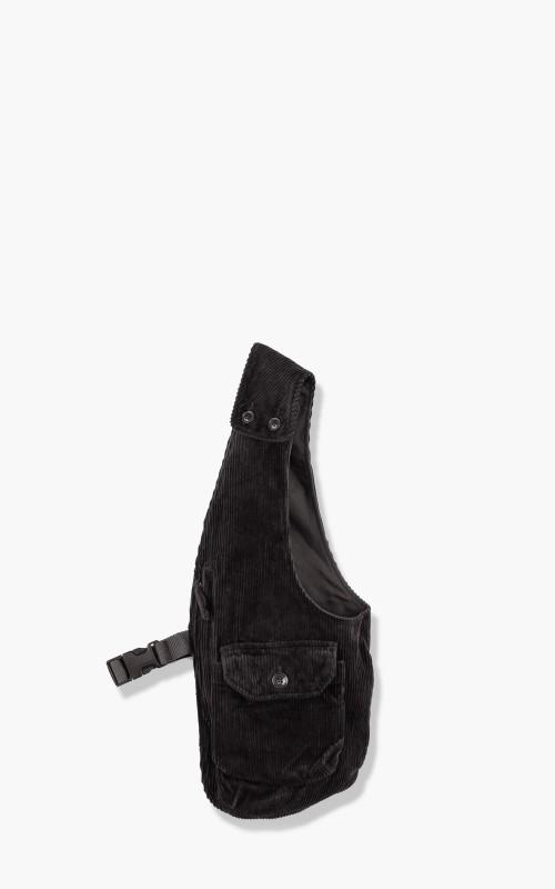Engineered Garments Shoulder Vest Cotton 8 Wale Corduroy Black