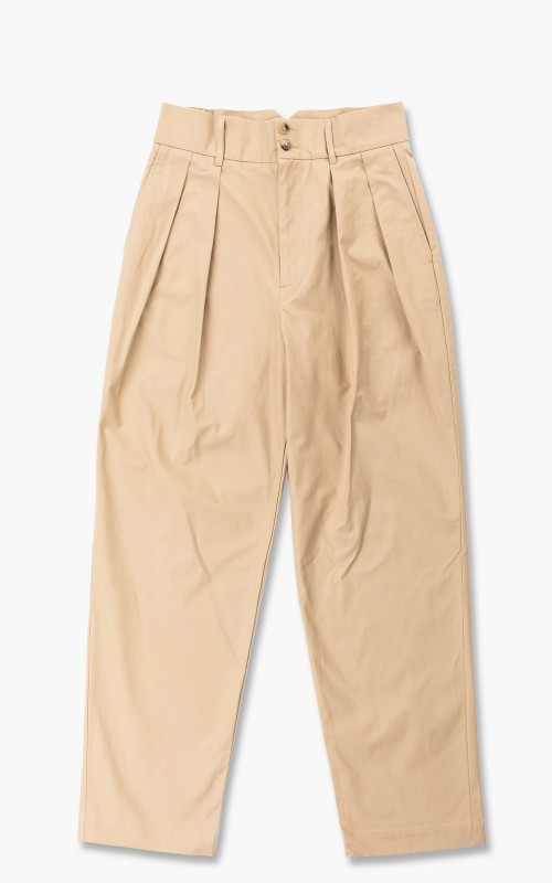 De Bonne Facture High Waisted Trousers Camel