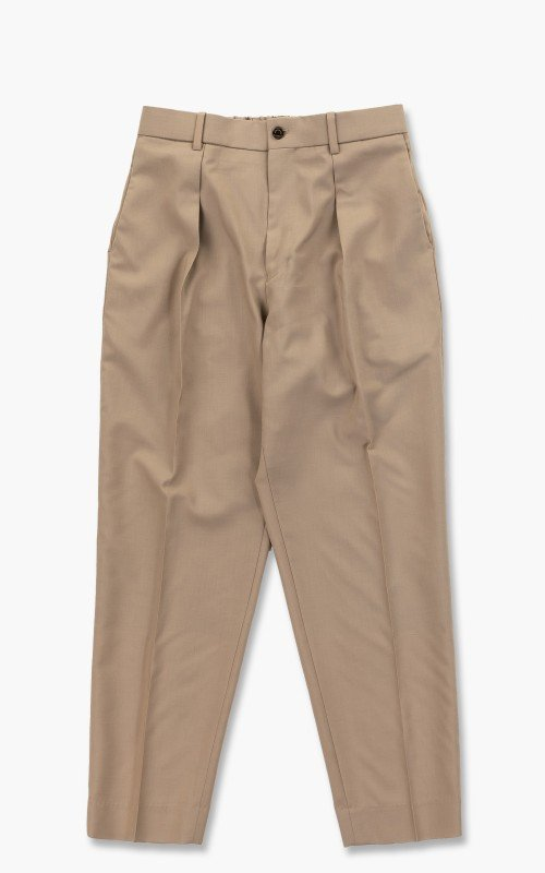 Markaware Organic Wool Tropical Pegtop Trousers Beige