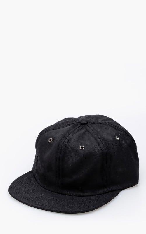 3sixteen Waxed Canvas Baseball Cap Black