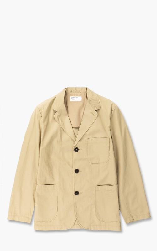 Universal Works Three Button Jacket Fine Twill Tan