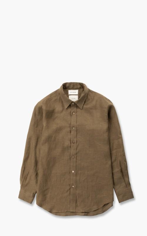 Markaware Hemp W Collar Shirt Khaki