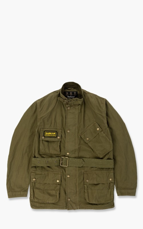 Barbour International A7 Casual Jacket Summer Wash Green