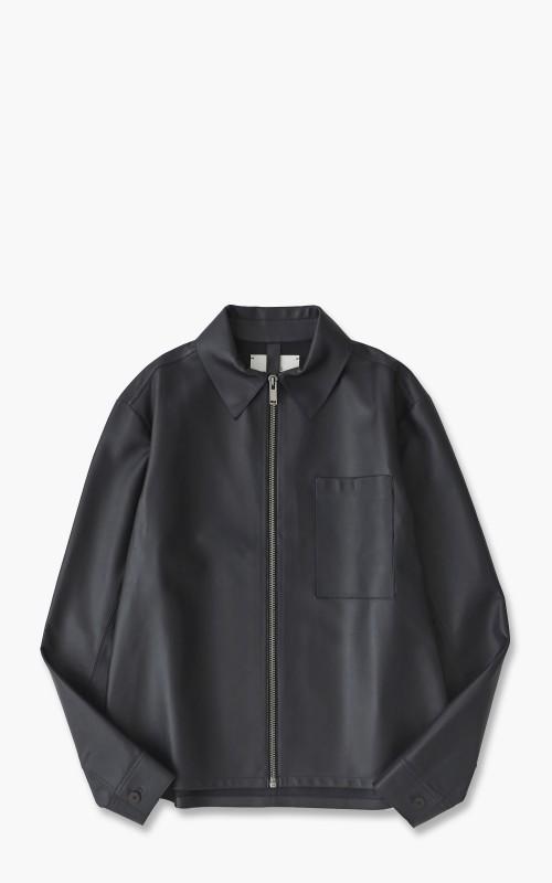 Studio Nicholson Nebo Leather Jacket Dark Navy
