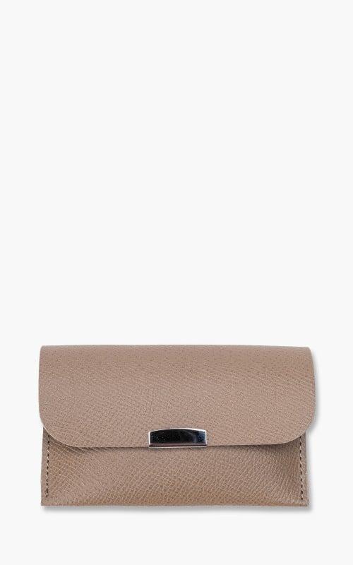 Digawel Card Case Calf Leather Grey