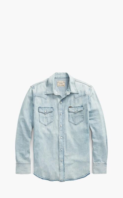 Polo Ralph Lauren Western Shirt Faded Blue