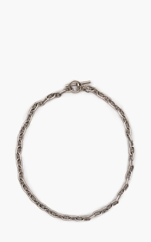 Argentidea Oxidized Solid Anchor Chain Necklace 925 Sterling Silver