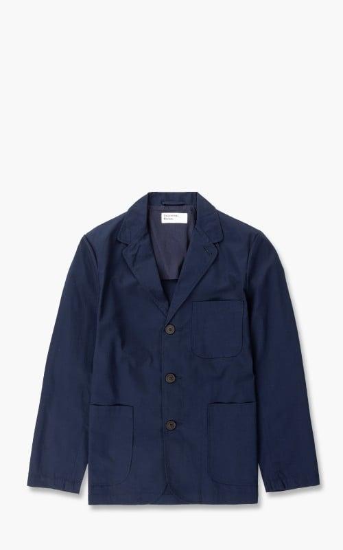 Universal Works Three Button Jacket Fine Twill Navy