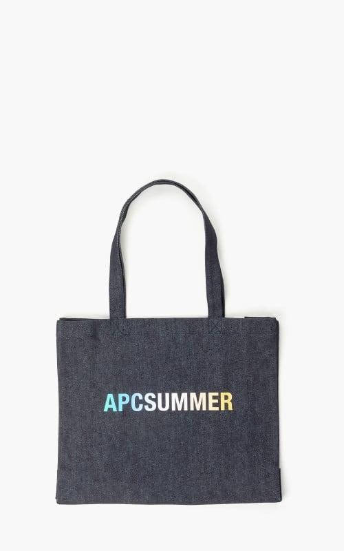 A.P.C. Diane Shopping Denim 'APC Summer' Bag Indigo