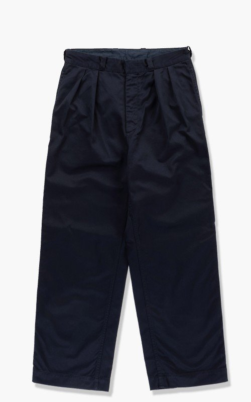 Nanamica Double Pleat Wide Chino Pants Navy
