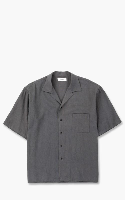Markaware 'Marka' Open Collar Silk Linen Shirt S/S Grey