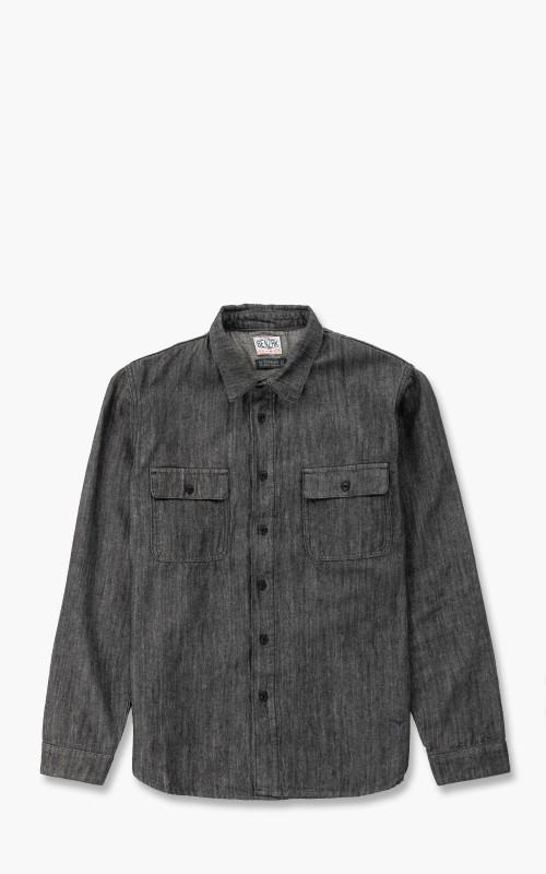 Benzak BWS-01 Work Shirt Organic Cotton/Linen Denim 8oz Black
