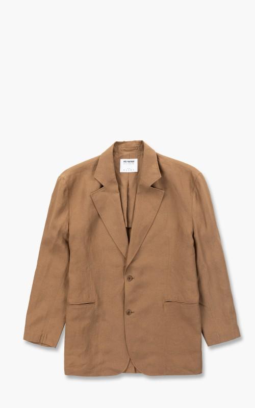 Hed Mayner Single Breasted Jacket Cinnamon Linen