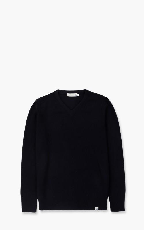 Merz b. Schwanen MWCV Sweatshirt V-Neck Wool Dark Navy
