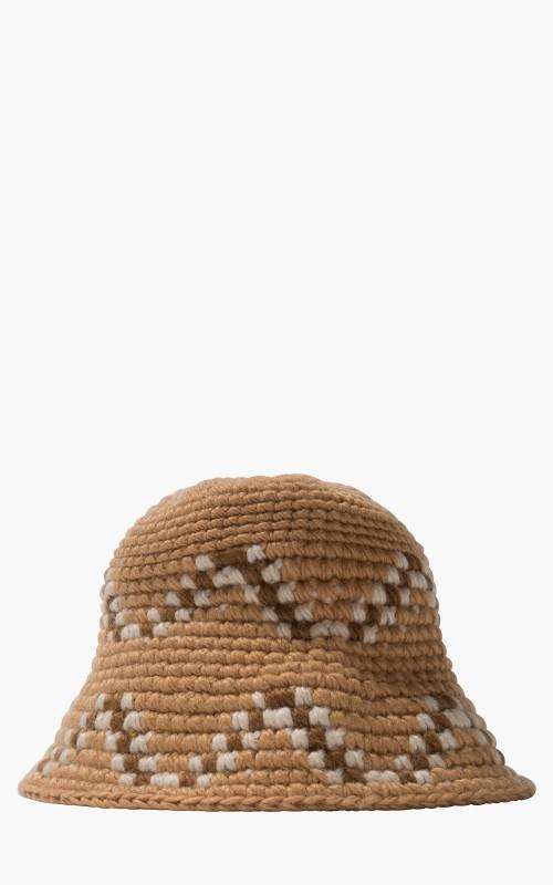 Stüssy Giza Knit Bucket Hat Brown