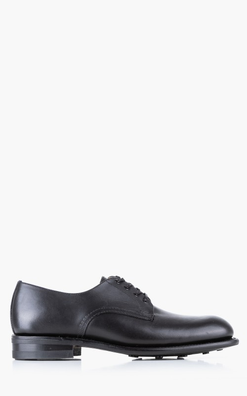 Sanders B.G.S. Collection Plain Toe Derby Waxy Black