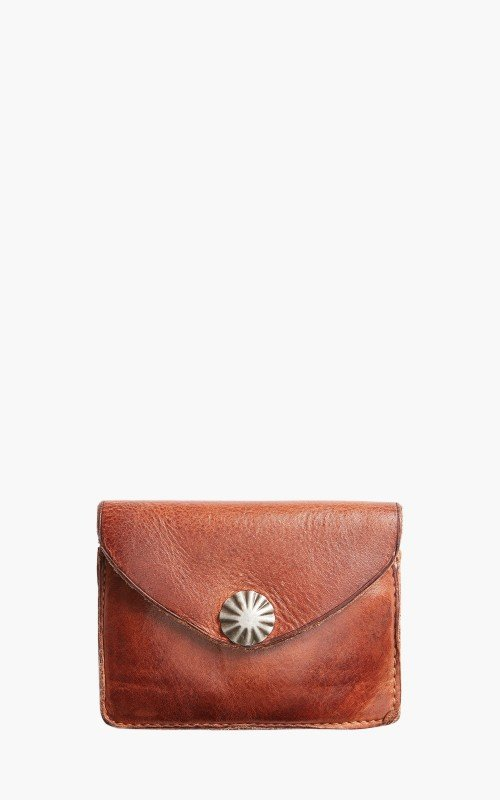 RRL Tumbled Leather Card Wallet Dark Brown