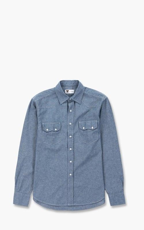 Tellason Cowboy Shirt Chambray Rigel Light Blue