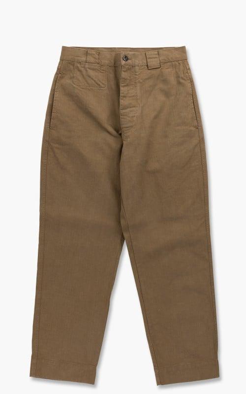 Margaret Howell MHL. Tapered Trouser Workwear Cotton Drill Khaki