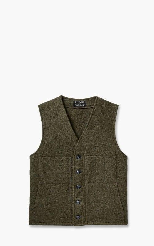 Filson Mackinaw Wool Vest Forest Green